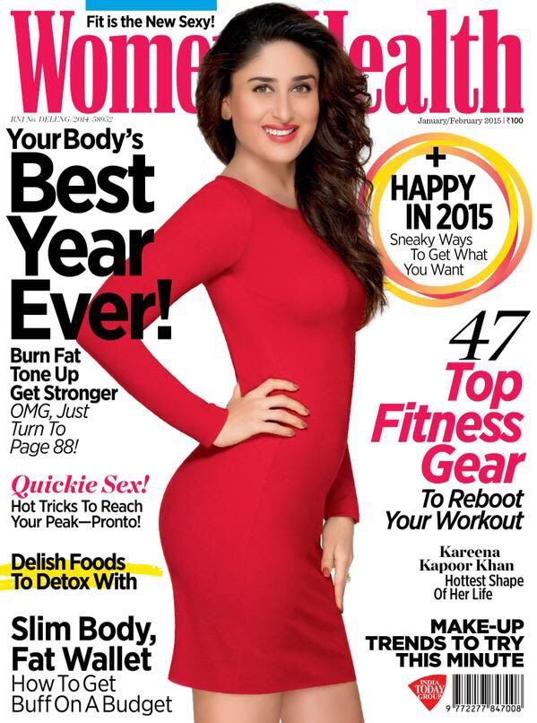 Kareena Kapoor - Women's Health, India, January/February 2015