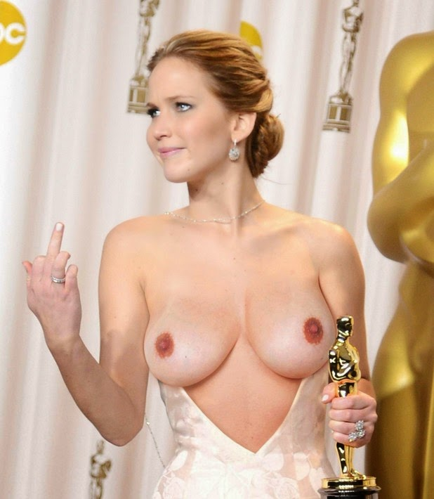 Jennifer Lawrence Nude Tits, Naked Boobs (Fake)