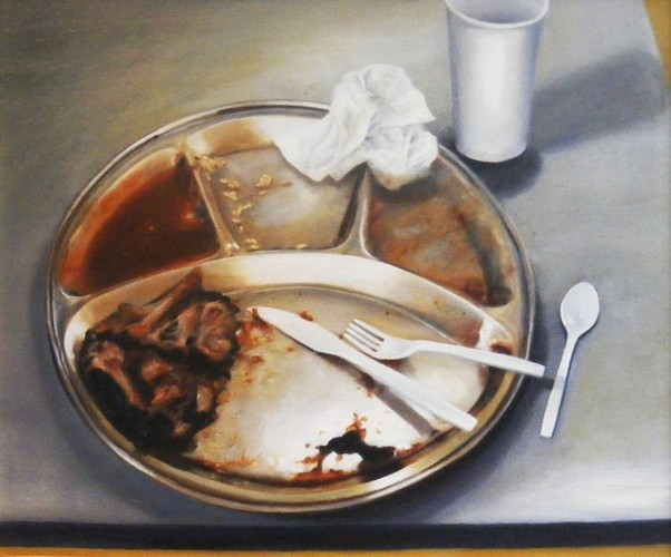 Last Meal: Ruben Cantu , oil on