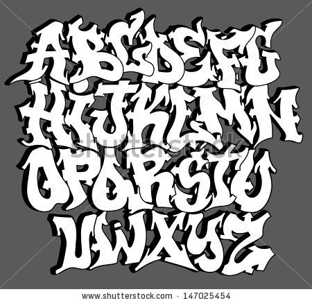 Gallery For gt Graffiti Fonts A Z