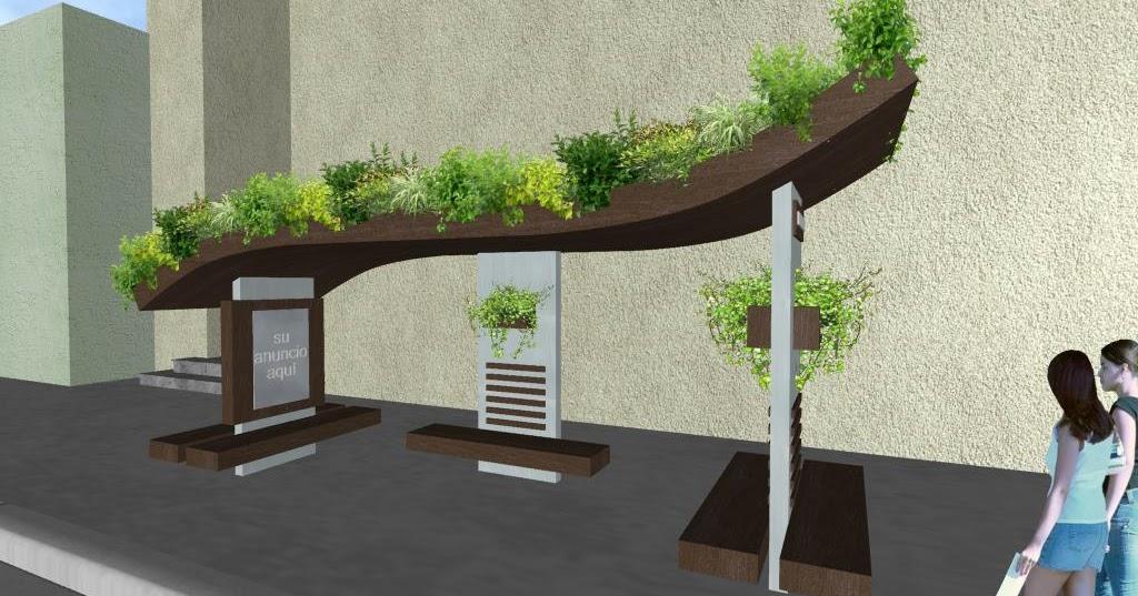 3 parabuses ecologicos con jardines en la azotea y for Diseno de jardines 3d