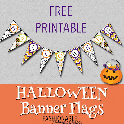 image about Free Printable Halloween Banner named My Modern-day Layouts: Absolutely free Printable: Halloween Banner Flags!