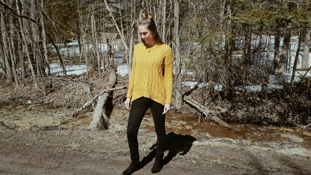 A spring outfit fit for autumn weather