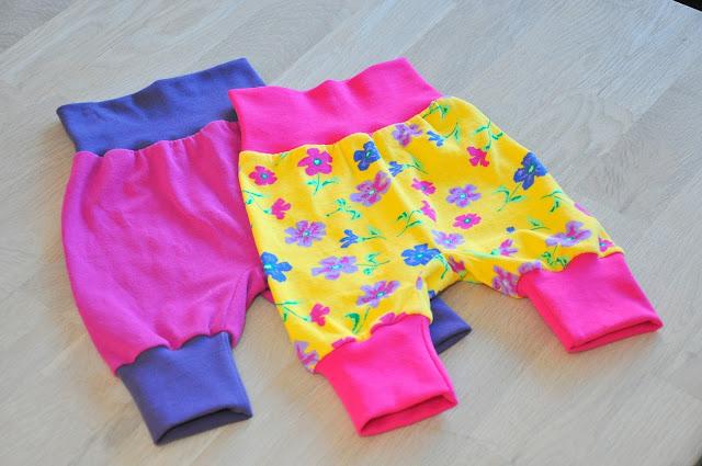 hjemmesyede baby bukser