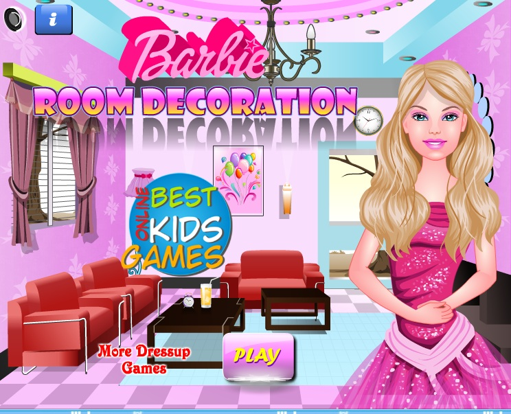 Free kids games barbie room decoration rhapsody in pink for Decoration barbie