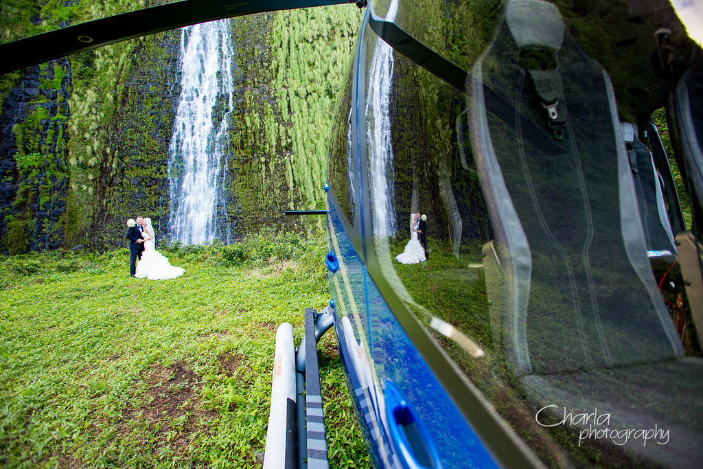 Kauai Waterfall Wedding Spot