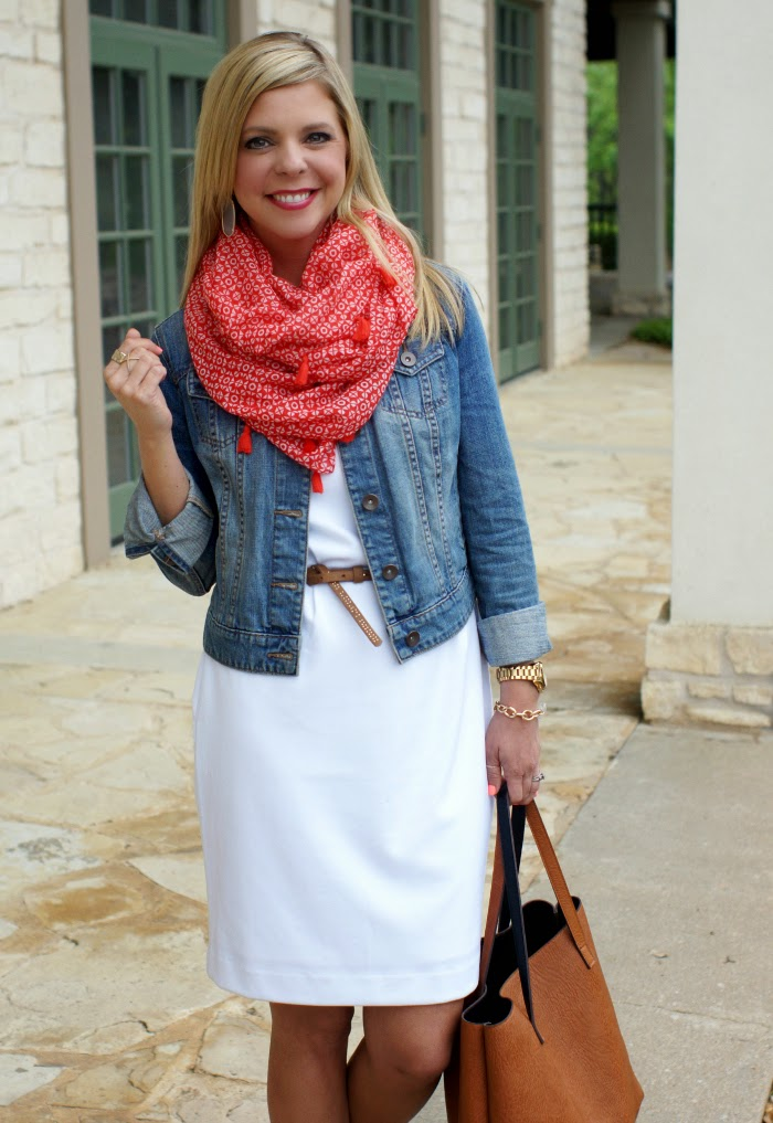 red tassel scarf