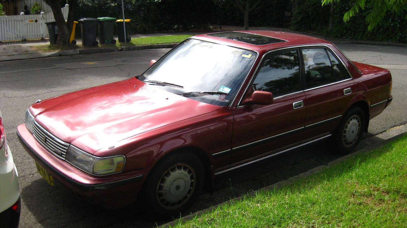 aussie old parked cars 1989 toyota cressida glx