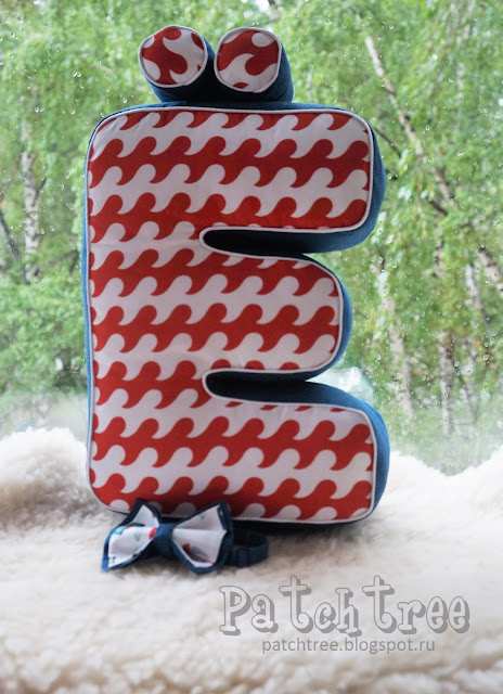 Буквы из ткани