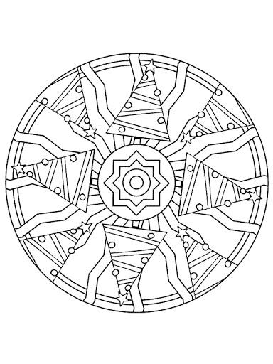 Dibujos y Plantillas para imprimir: Mandalas navidad