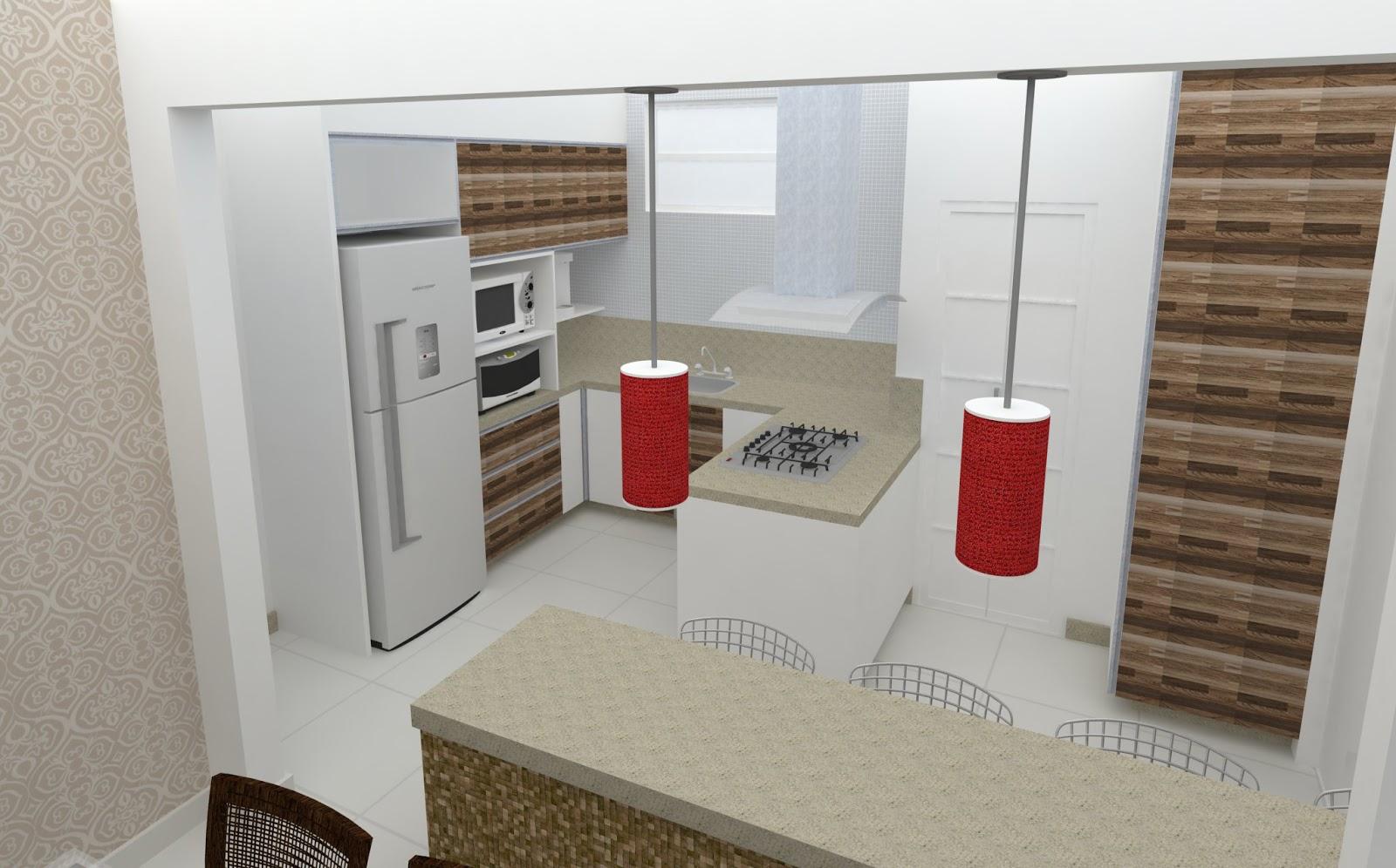 de Interior Refoma Cozinha /Lavanderia/ Sala de Jantar e Sala de #6B3F30 1600 996