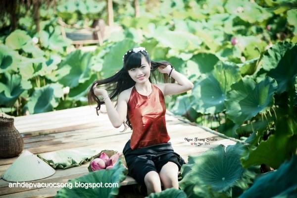 Những hinh ảnh đẹp về yếm đào và hoa sen