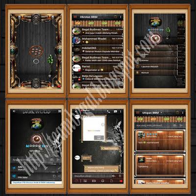 BBM MOD Dark Wood Themes APK Terbaru