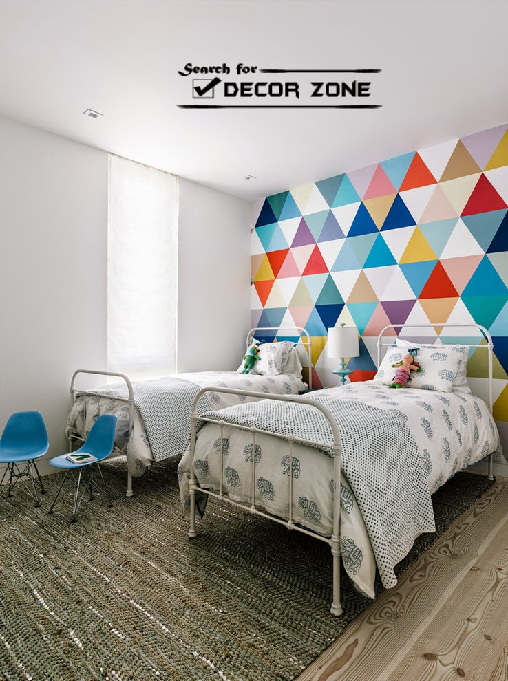 diamond wall painting techniques and patterns for bedroom of kids - Color Pattern For Walls