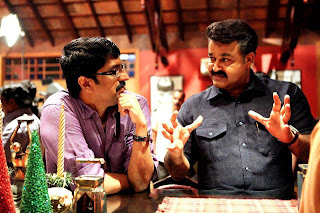 Director Unnikrishnan with Mohanlal