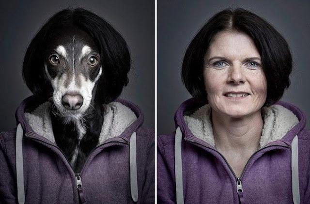 Mascotas que se visten como sus dueños