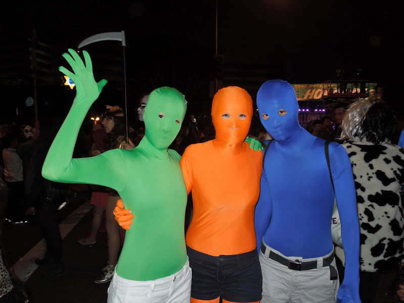 West Hollywood Halloween Carnaval lycra costumes