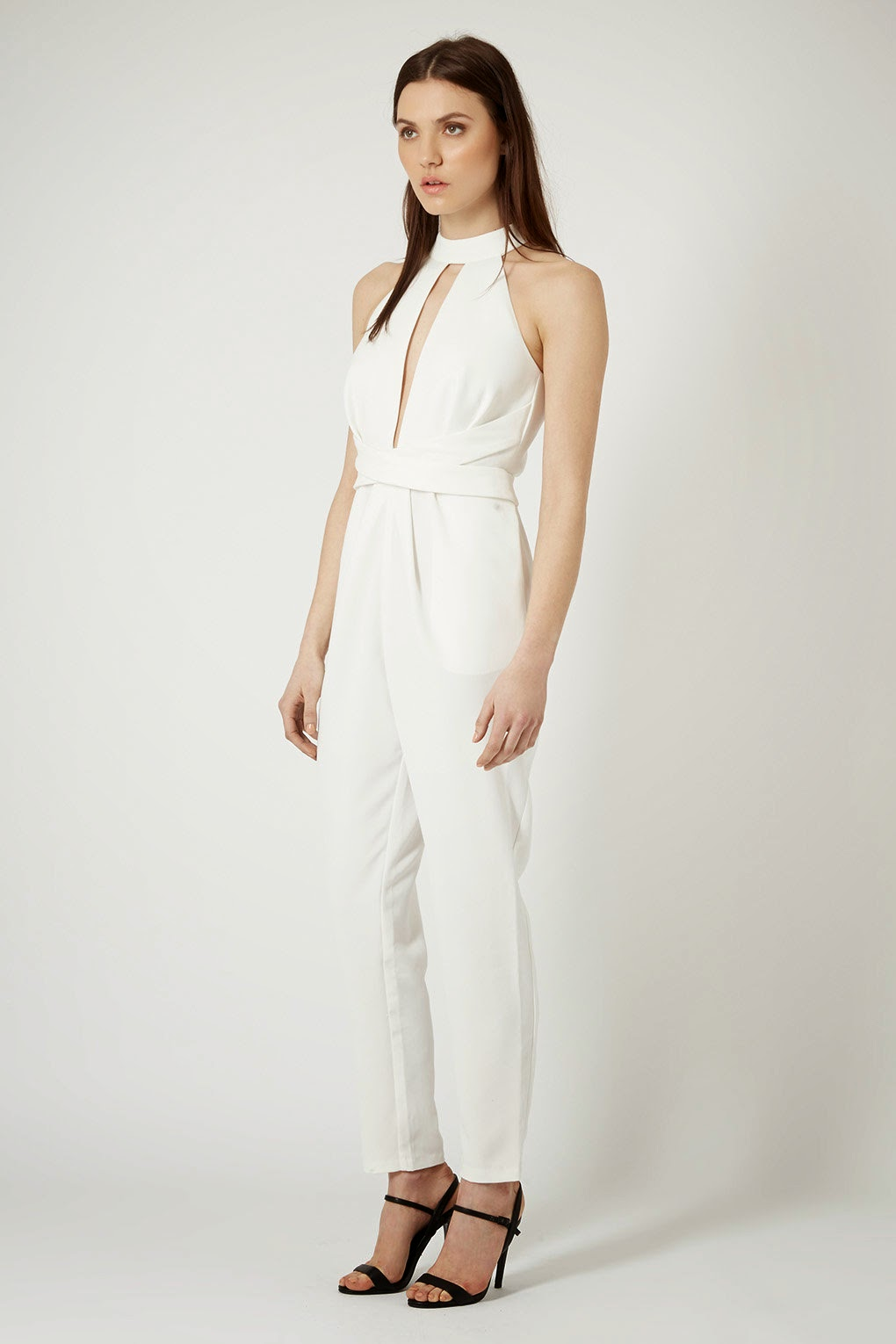 white cameo jumpsuit