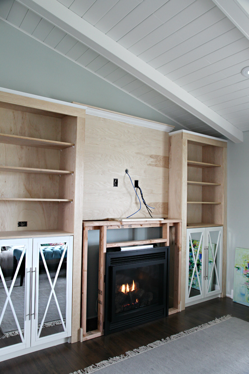 Diy Fireplace Built In Tutorial Iheart Organizing
