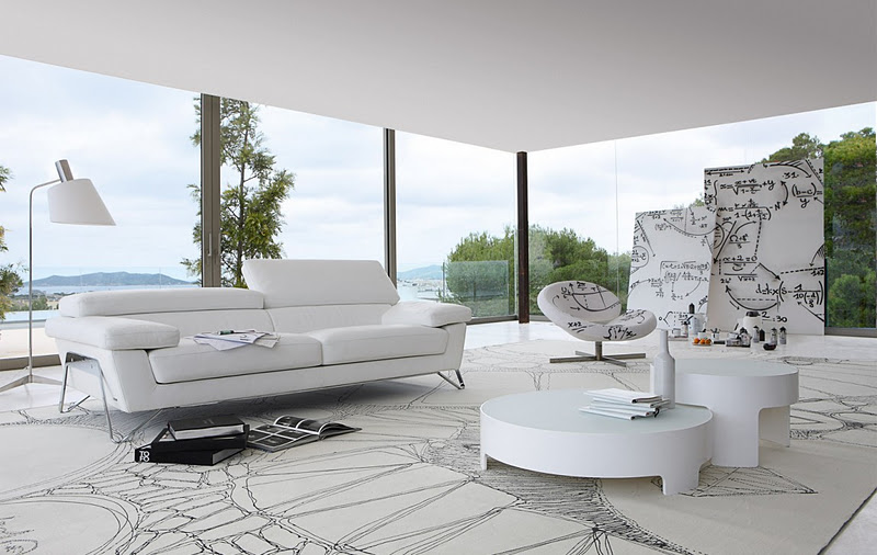 living room inspiration modern sofas by roche bobois. Black Bedroom Furniture Sets. Home Design Ideas