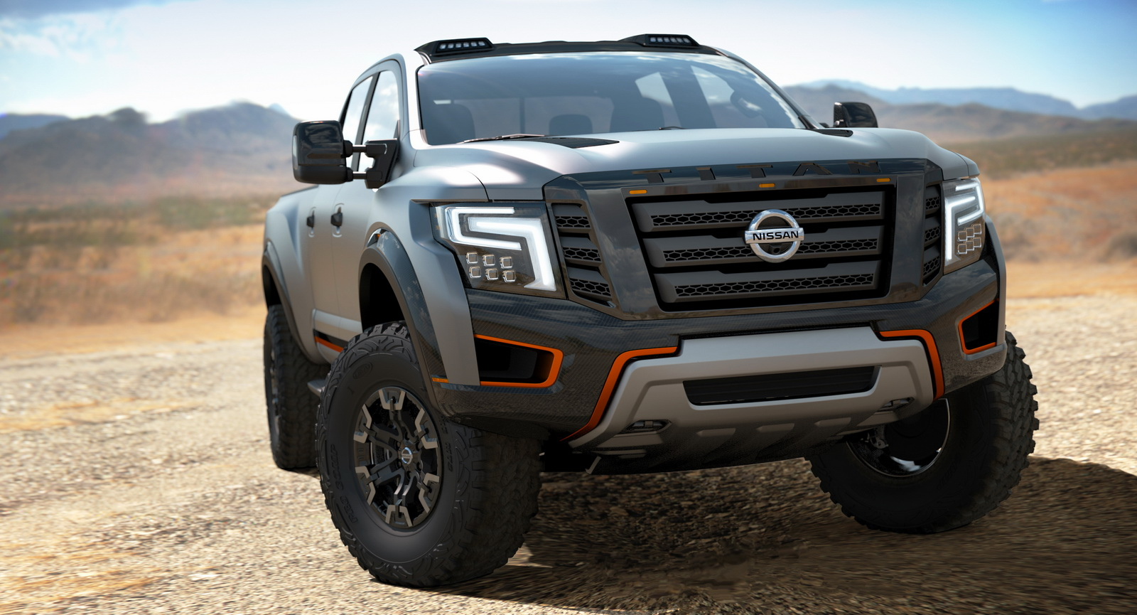 macho looking titan warrior concept is nissan s answer to the ford raptor 80 pics carscoops. Black Bedroom Furniture Sets. Home Design Ideas