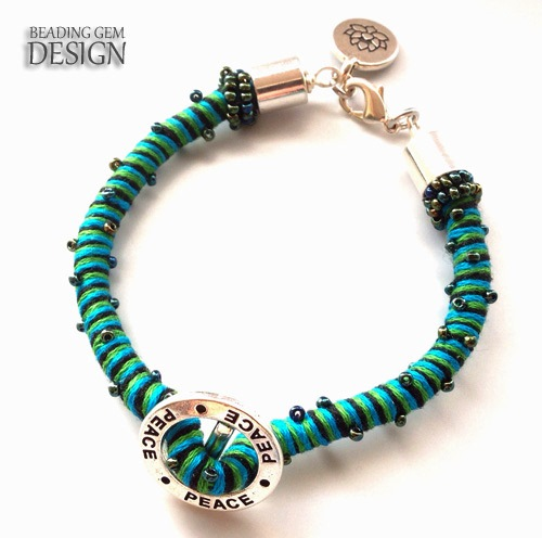 Easy and fast way to make thread wrapped bracelets the