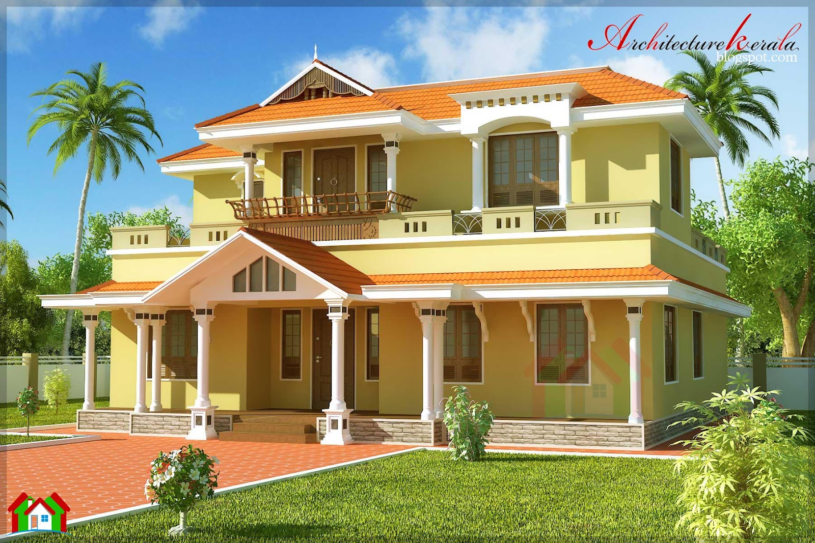 Architecture kerala 2500 square feet traditional style for Home designs kerala architects