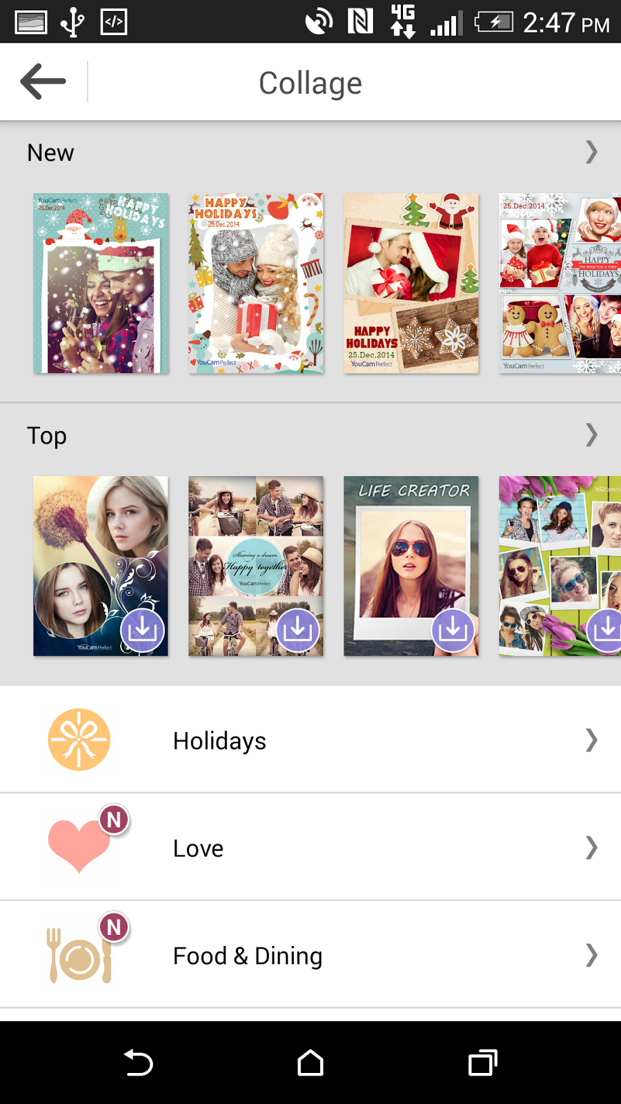 In Collage Area Select Holidays To See All Christmas And New Years Templates A Design That You Like The Top Row Can