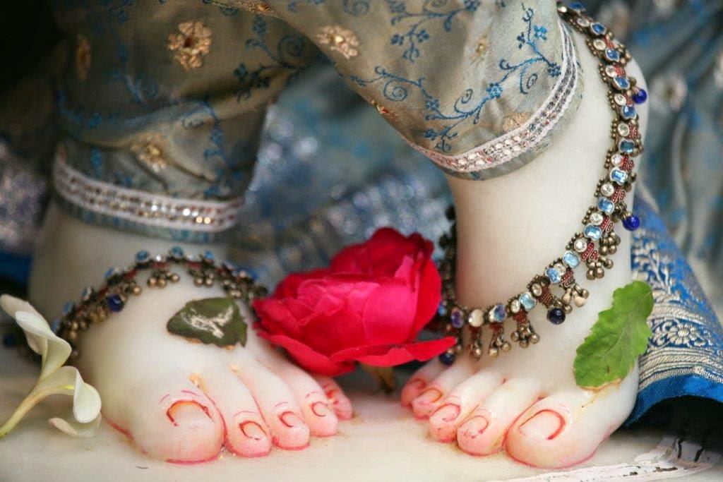 Lotus Feet of Sri Vrindavana Chandra (Sri krishna)