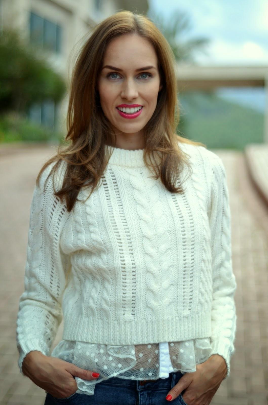 gina-tricot-white-jumper-knit-asos-sheer-blouse kristjaana mere