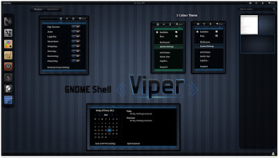 GNOME Shell - Viper theme