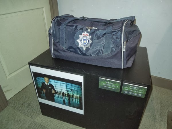 Hot Fuzz British police duffel bag prop