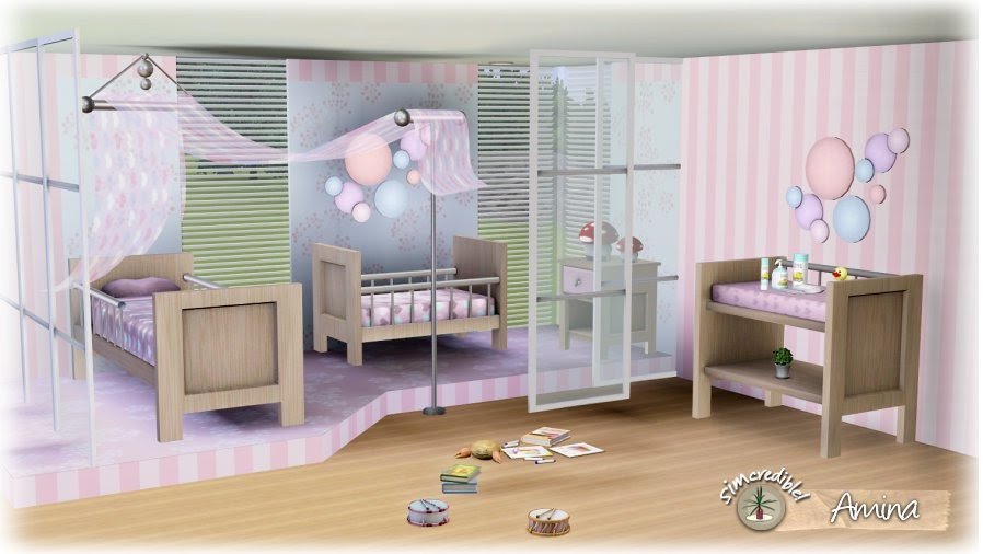 My sims 3 blog amina nursery set by simcredible designs for Sims 3 bedroom designs