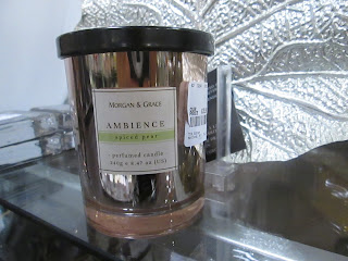 Spiced pear candle, copper, shiny, candle