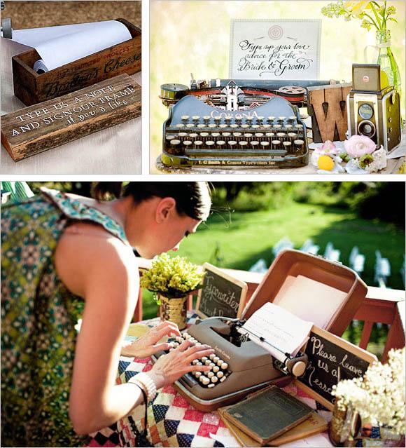 maquina escribir libro de firmas