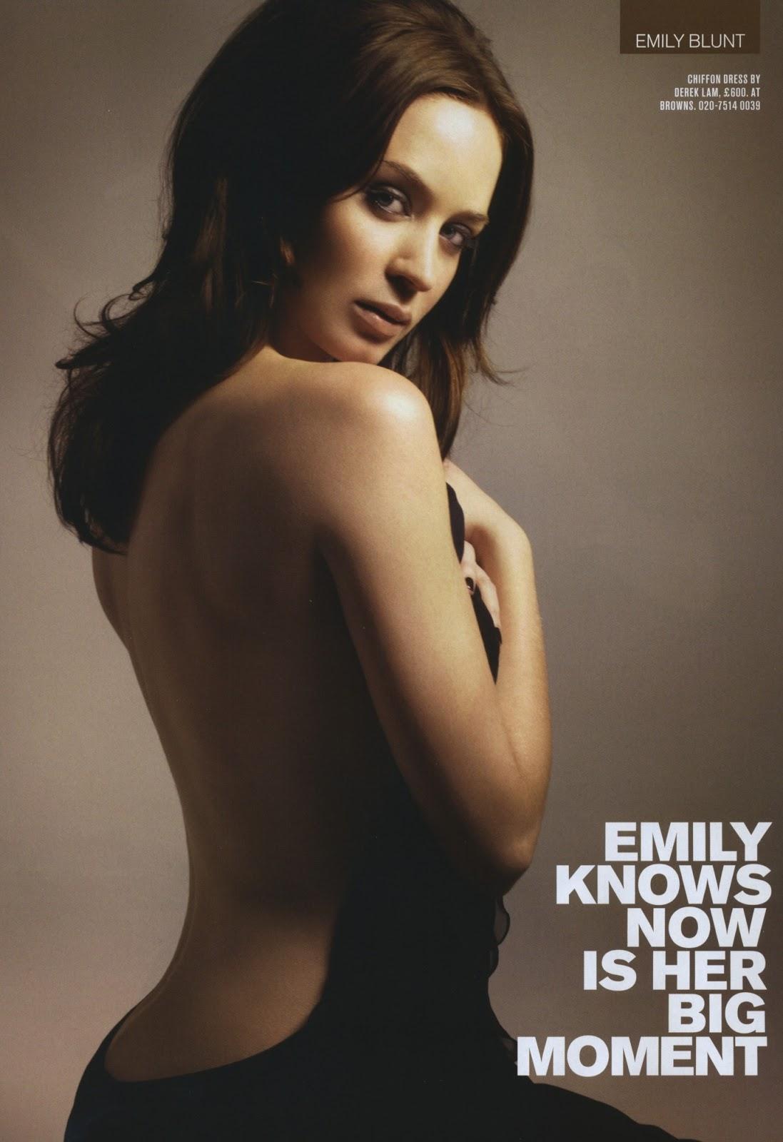 emily blunt naked back