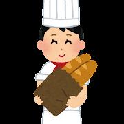 パン屋さんのイラスト(女性)