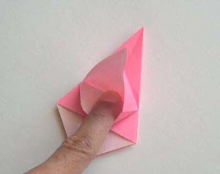 cara membuat origami bunga lily