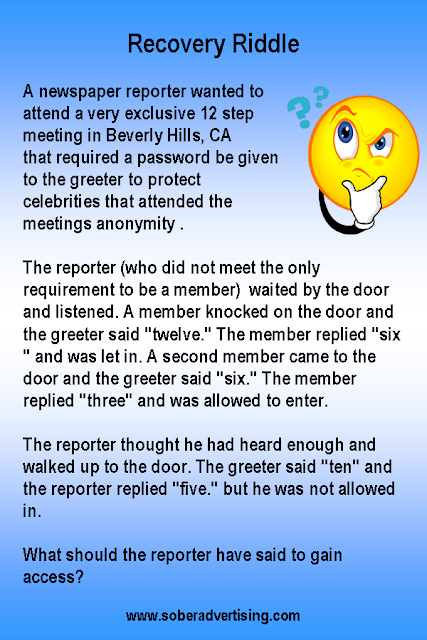Recovery Riddle - The Newspaper Reporter