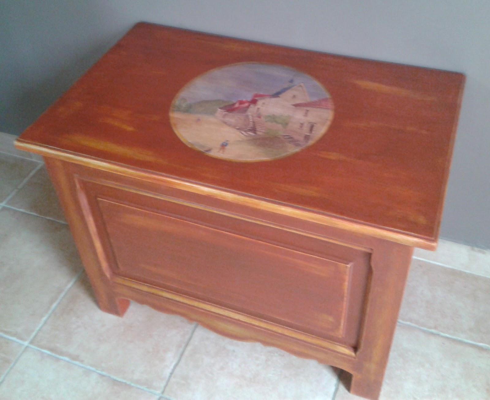 Dominique gilles eb niste meubles peints for Patine peinture acrylique