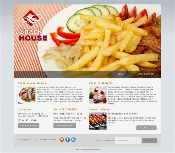 Snack House - Free Drupal Theme