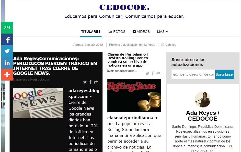 CEDOCOE, EL PERIODICO DE LA COMUNICACIÓN