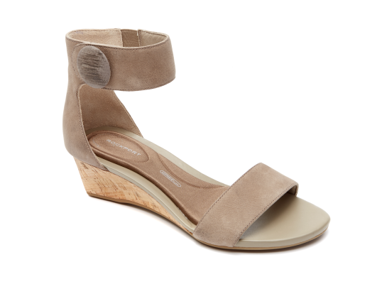Women's Total Motion Stone Anklestrap Wedge