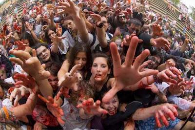 invasión de zombis