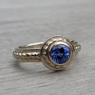 lab sapphire ring