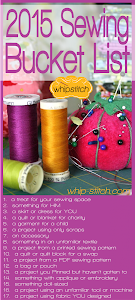 Sewing Bucket List 2015