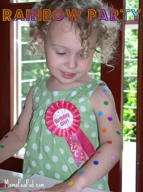 rainbow themed birthday party for kids