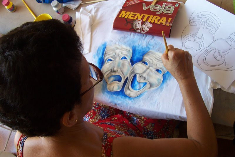 Artista Plástica Maria Emília Lopes (Mel)