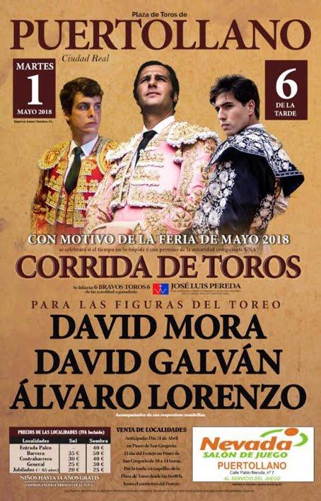 PUERTOLLANO (ESPAÑA) 01-05-2018.CORRIDA DE TOROS.