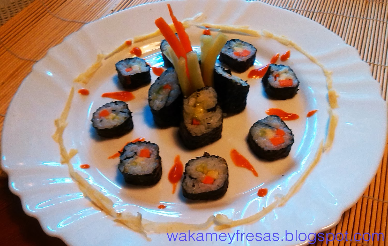 resultado del sushi vegetal
